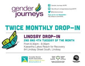 Gender Journeys Bi-Weekly Drop-In Lindsay @ Kawartha Lakes Reach for Recovery   Lindsay   Ontario   Canada