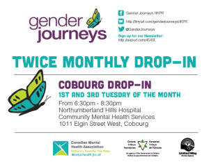 Gender Journeys Bi-Weekly Drop-In Cobourg @ Northumberland Hills Hospital/Community Mental Health Services | Cobourg | Ontario | Canada