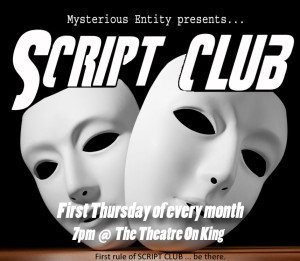 Script Club @ BE at the Trend – The little cafe/bar at Traill College | Peterborough | Ontario | Canada