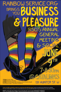 RSO Annual Meeting and Social - Business & Pleasure! @ Catalina's | Peterborough | Ontario | Canada