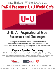 Save The Date - Wednesday, June 21 - PARN Presents U=U World Café
