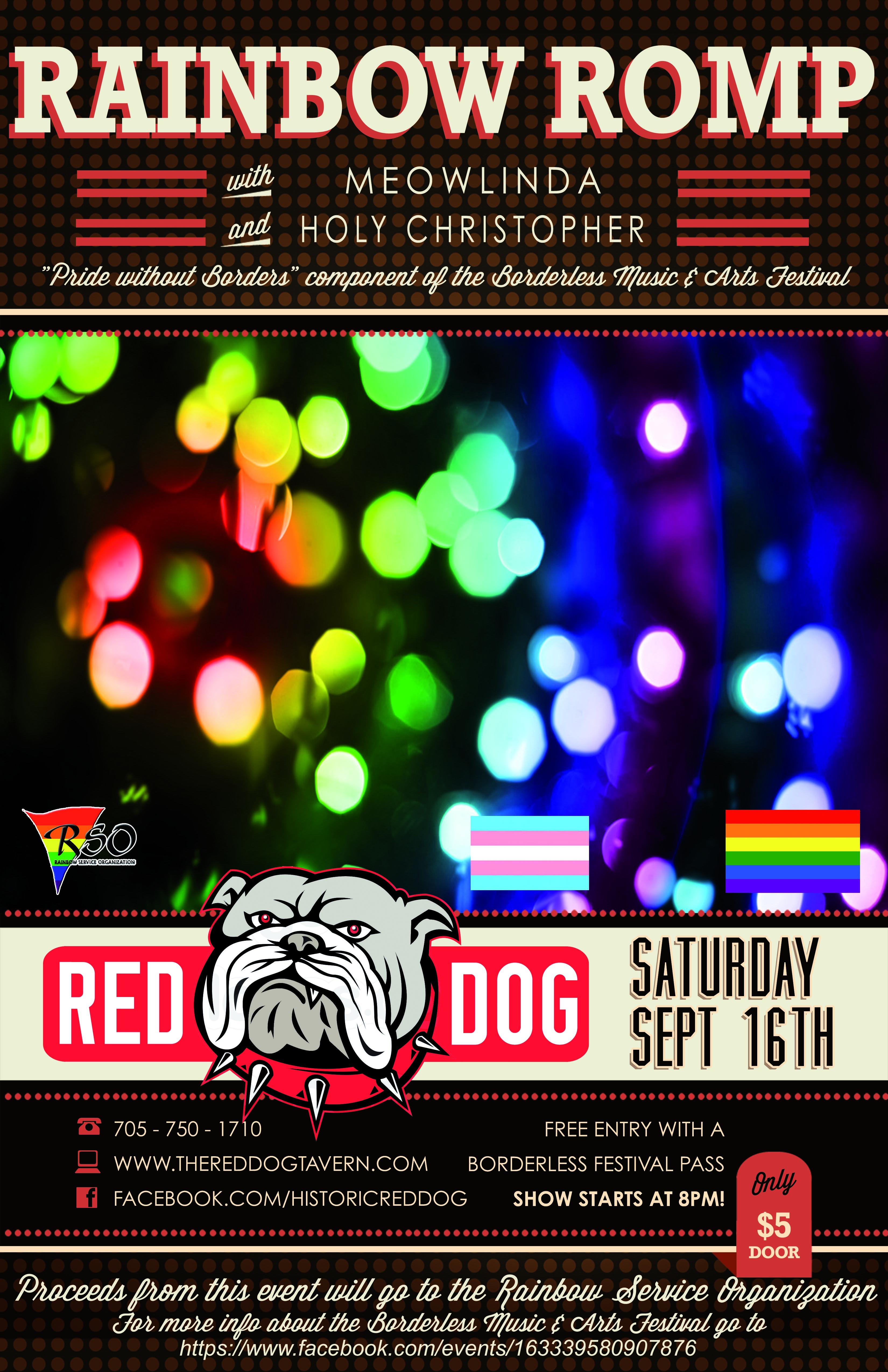 Rainbow Romp – Pride Edition! @ The Historic Red Dog | Peterborough | Ontario | Canada